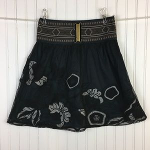 Sweet by Miss Me Skirt Floral Mesh Small